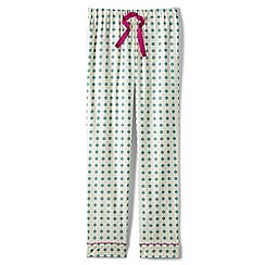 Lands' End - Green flannel patterned pyjama bottoms