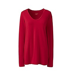 Lands' End - Red plus jersey sleep top