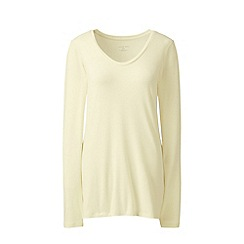Lands' End - Cream plus jersey sleep top