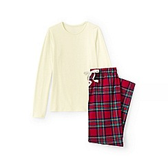 Lands' End - Red jersey/flannel pyjama set