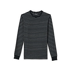 Lands' End - Grey long sleeve stripe super-t