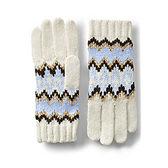 Lands' End - Blue winter fair isle gloves