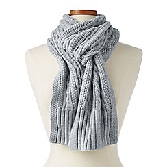 Lands' End - Grey cashmere cable scarf
