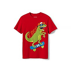 Lands' End - Red applique graphic tee