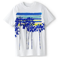 Lands' End - White boys' graphic tee
