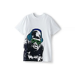 Lands' End - Boys' white graphic tee