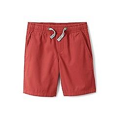 Lands' End - Boys' orange pull-on shorts
