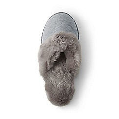 Lands' End - Grey velour mule slippers
