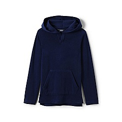 Lands' End - Boys' blue terry beach hoodie