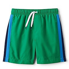 Lands' End - Green side-stripe swim shorts