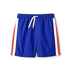 Lands' End - Blue side-stripe swim shorts