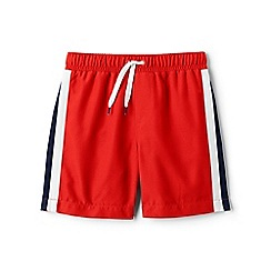 Lands' End - Orange side-stripe swim shorts