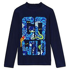 Lands' End - Boys' blue long sleeve graphic rash vest