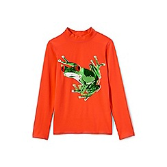 Lands' End - Boys' orange long sleeve graphic rash vest
