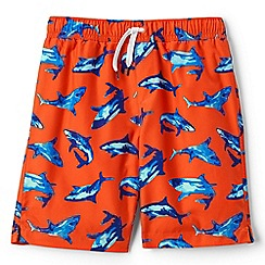 Lands' End - Boys' orange printed swim shorts