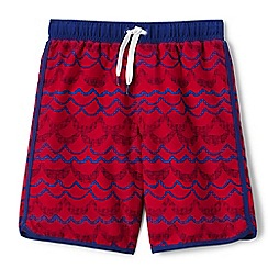 Lands' End - Boys' red printed swim shorts
