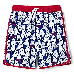 Lands' End - Boys' blue printed swim shorts