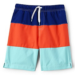 Lands' End - Boys' blue colour block swim shorts