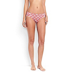 Lands' End - Multi costo d'oro mid waist geo print bikini bottoms