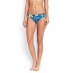 Lands' End - Blue costo d'oro mid waist floral print bikini bottoms