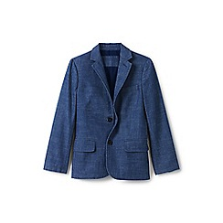 Lands' End - Boys' blue chambray blazer