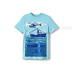 Lands' End - Boys' blue graphic tee