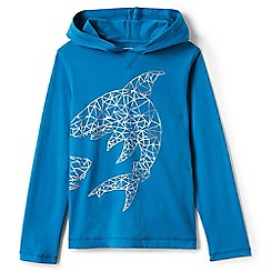 Lands' End - Blue graphic hoodie