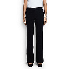 Lands' End - Black mid rise black denim trouser leg jeans