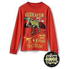 Lands' End - Orange boys' glow in the dark graphic tee