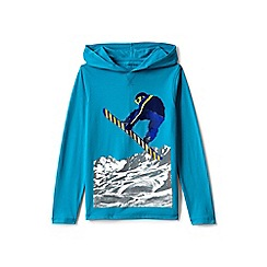 Lands' End - Blue boys' seasonal graphic hoodie