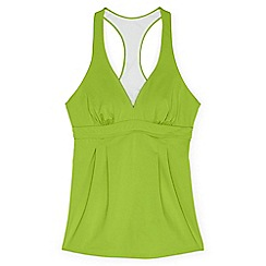 Lands' End - Green regular beach living swing tankini top