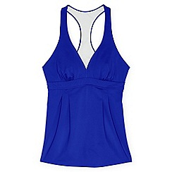 Lands' End - Blue plus beach living swing tankini top