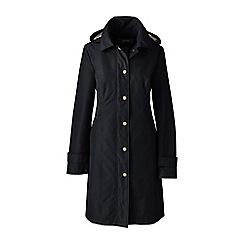 Lands' End - Black coastal long rain coat