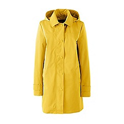 Lands' End - Yellow petite coastal rain parka