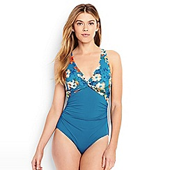 Lands' End - Multi costo d'oro floral print swimsuit