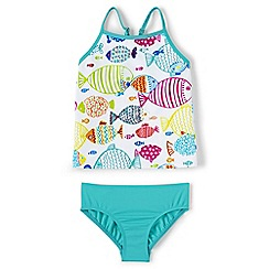 Lands' End - Blue smart swim patterned tankini