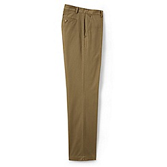 Lands' End - Beige flannel-lined chinos