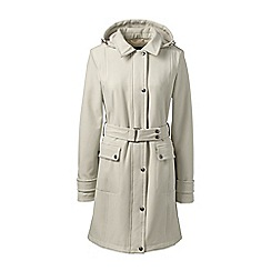 Lands' End - White petite soft shell coat