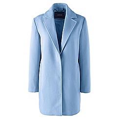Lands' End - Blue regular super soft wool blend parka