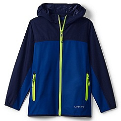 Lands' End - Boys' blue windbreaker packable jacket