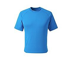 Lands' End - Blue regular short sleeve rash vest