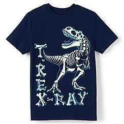 Lands' End - Blue boys' glow-in-the-dark graphic tee