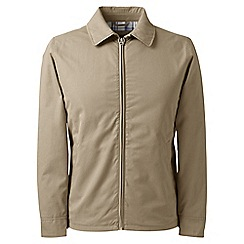 Lands' End - Beige regular harrington jacket
