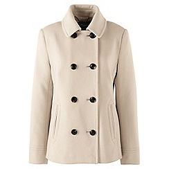 Lands' End - Pink regular super soft wool blend pea coat