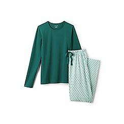 Lands' End - Blue jersey patterned pyjama set