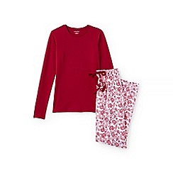 Lands' End - Red jersey patterned pyjama set