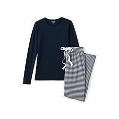 Lands' End - Blue jersey pyjama set