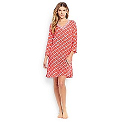 Lands' End - Multi regular cotton crepe beach geo print cover-up