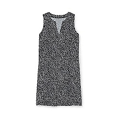 Lands' End - Black regular sleeveless dot print tunic cover-up
