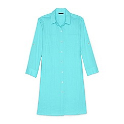 Lands' End - Blue regular boyfriend shirt dress beach cover-up